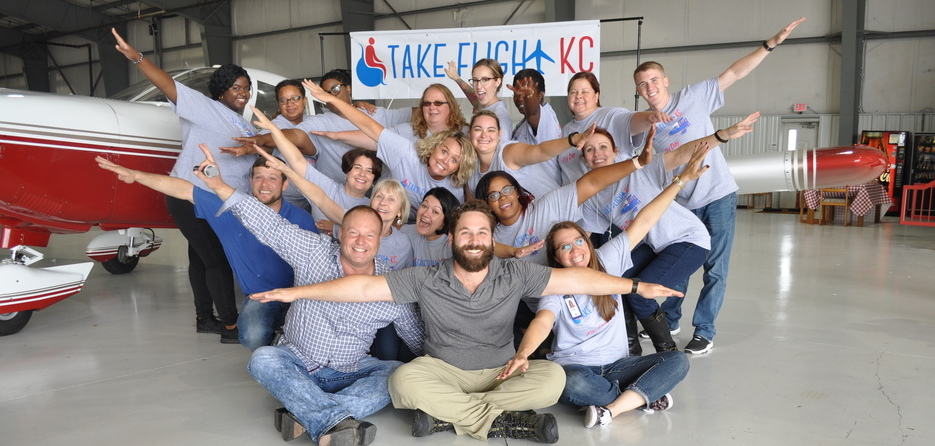 Team ADC volunteered at Take Flight KC's Fly Day 2017