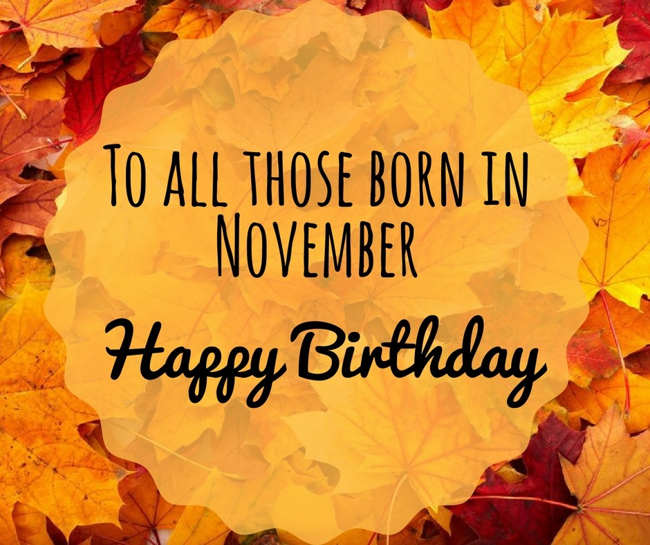 This is an image of Satisfactory November Birthday Clipart